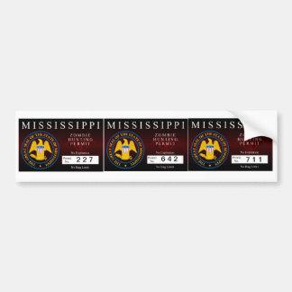 Mississippi Zombie Hunting Permit Bumper Sticker