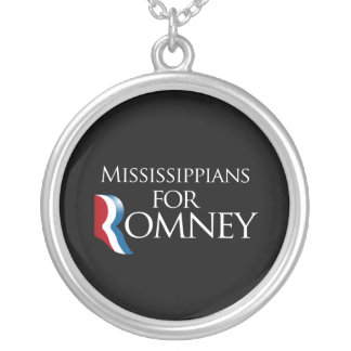 Mississippians for Romney -.png Round Pendant Necklace