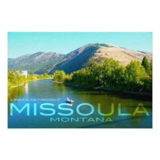 Missoula, Montana - A River Runs Through It Art Photo