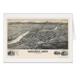 Missoula, MT Panoramic Map - 1891 Card