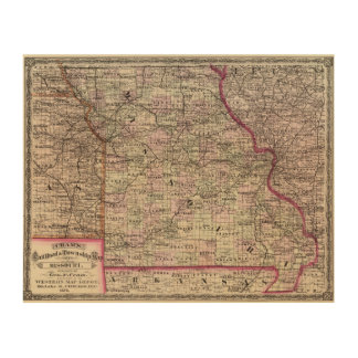 Missouri 7 wood print