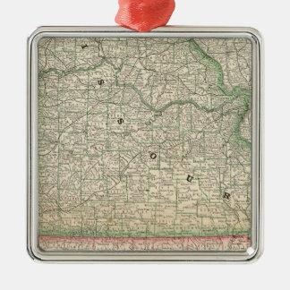 Missouri and Arkansas Christmas Ornament