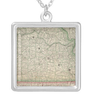 Missouri and Arkansas Silver Plated Necklace