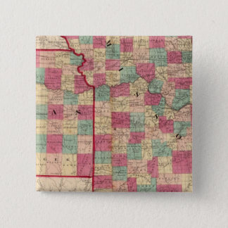 Missouri and Kansas 15 Cm Square Badge