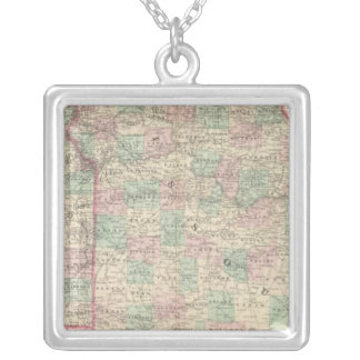 Missouri and Kansas 2 Silver Plated Necklace