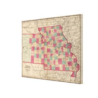 Missouri and Kansas Canvas Print