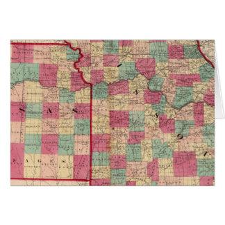 Missouri and Kansas Card