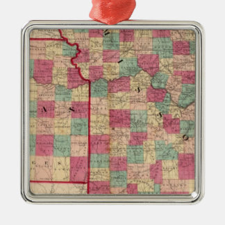 Missouri and Kansas Christmas Ornament