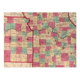 Missouri and Kansas Postcard