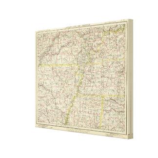 Missouri, Arkansas, Kentucky, Tennessee Canvas Print