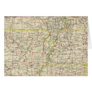 Missouri, Arkansas, Kentucky, Tennessee Card