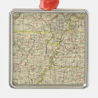 Missouri, Arkansas, Kentucky, Tennessee Christmas Ornament