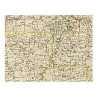 Missouri, Arkansas, Kentucky, Tennessee Postcard