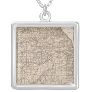 Missouri Atlas Map Silver Plated Necklace
