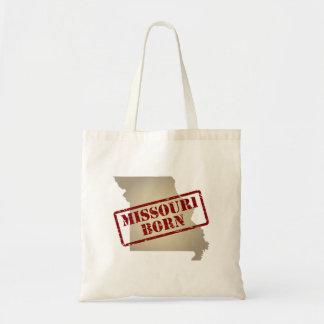 Missouri Born - Stamp on Map Tote Bag