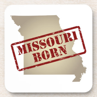 Missouri Born - Stamp on Map Beverage Coasters