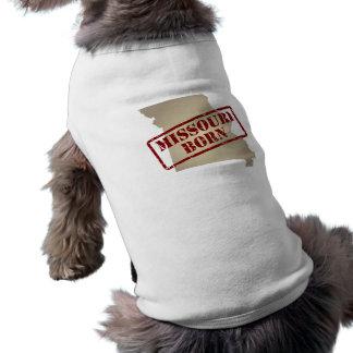 Missouri Born - Stamp on Map Dog T Shirt
