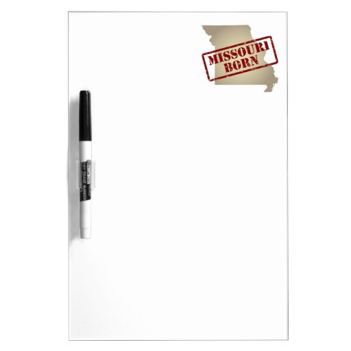 Missouri Born - Stamp on Map Dry-Erase Board
