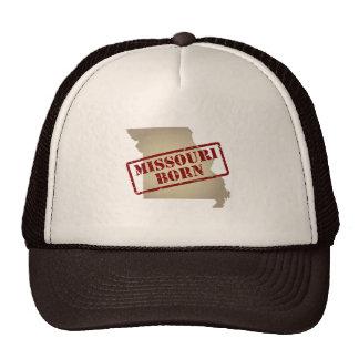 Missouri Born - Stamp on Map Mesh Hats
