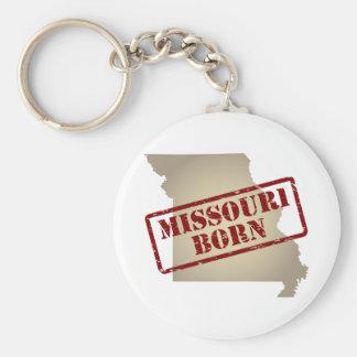 Missouri Born - Stamp on Map Keychains