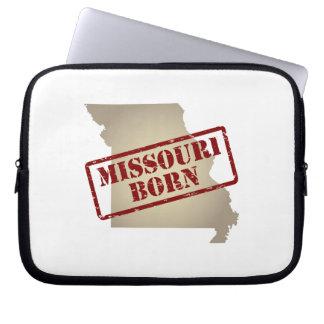 Missouri Born - Stamp on Map Laptop Sleeves