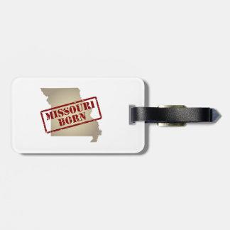 Missouri Born - Stamp on Map Bag Tag
