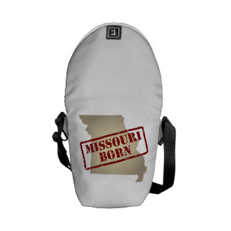 Missouri Born - Stamp on Map Courier Bag