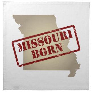 Missouri Born - Stamp on Map Napkins