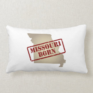 Missouri Born - Stamp on Map Pillows