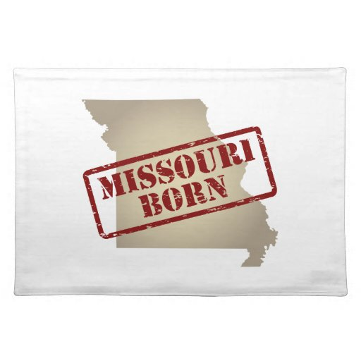 Missouri Born - Stamp on Map Placemats