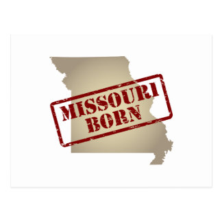 Missouri Born - Stamp on Map Postcard