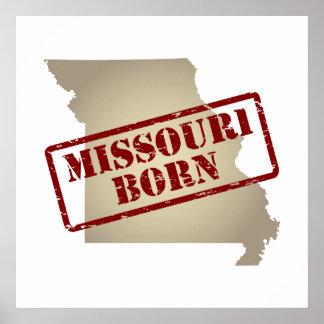 Missouri Born - Stamp on Map Print
