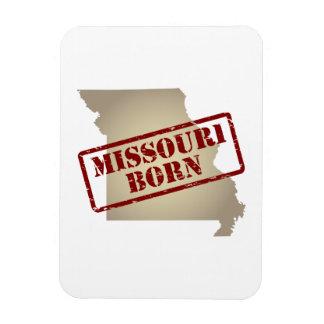 Missouri Born - Stamp on Map Rectangular Magnets