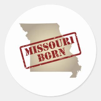 Missouri Born - Stamp on Map Round Stickers