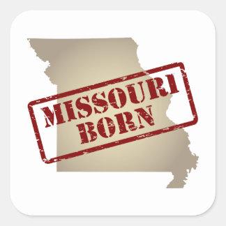Missouri Born - Stamp on Map Square Sticker