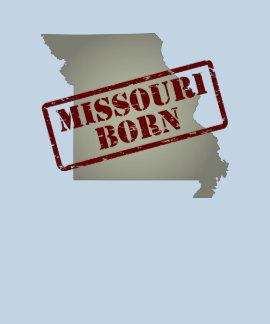 Missouri Born - Stamp on Map T-shirts
