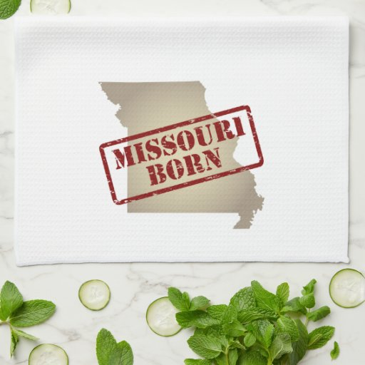 Missouri Born - Stamp on Map Towels