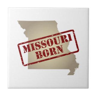Missouri Born - Stamp on Map Tiles