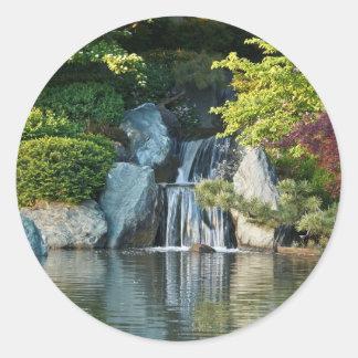 Missouri Botanical Garden Water Fall Round Sticker