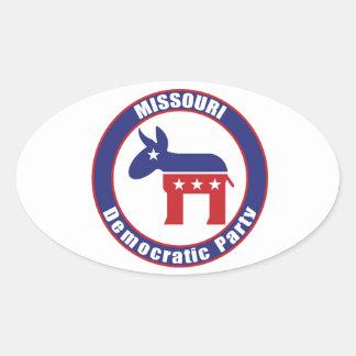 Missouri Democratic Party Oval Sticker