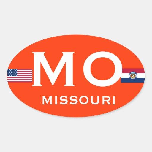Missouri European Oval Sticker