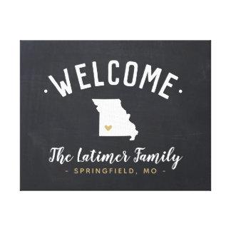 Missouri Family Monogram Welcome Sign