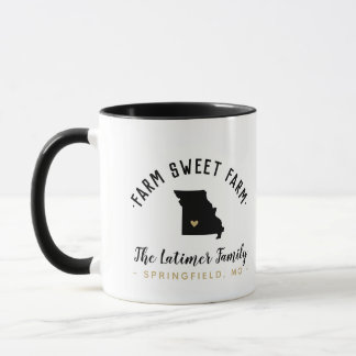 Missouri Farm Sweet Farm Family Monogram Mug