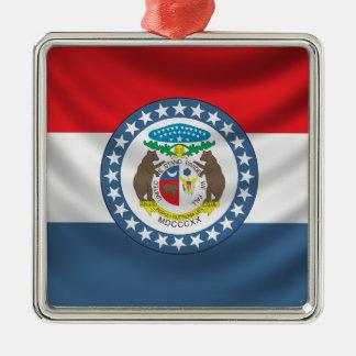 Missouri Flag Christmas Ornament