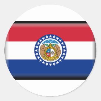 Missouri Flag Classic Round Sticker