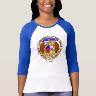 Missouri flag for Women's-T-Shirt-White-Blue T-Shirt