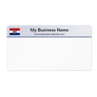 Missouri Flag Header Shipping Label