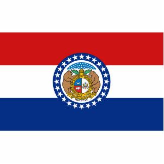 Missouri Flag Keychain Cut Out