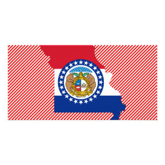 Missouri Flag Map Card