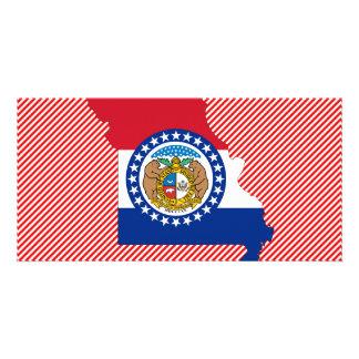 Missouri Flag Map Customised Photo Card